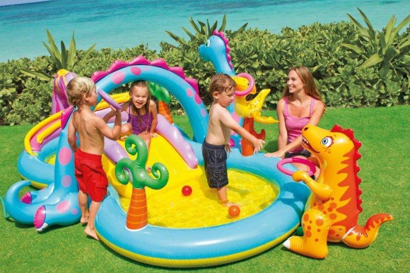 Wodny plac zabaw basen zjeżdżalnia intex 57135