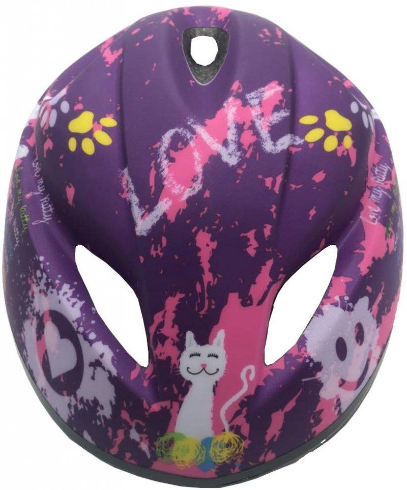 Kask Rowerowy Dziecięcy  Love Kitty R.M 49-51Cm