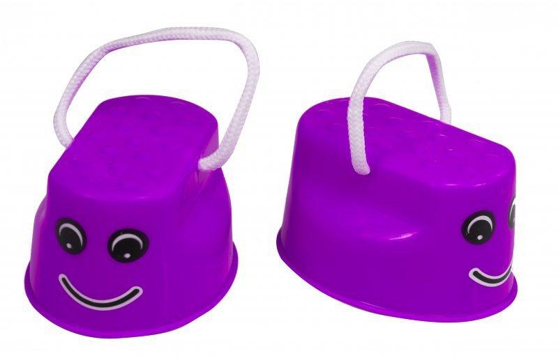 Szczudła dla dzieci chodaczki sport równowaga fioletowe