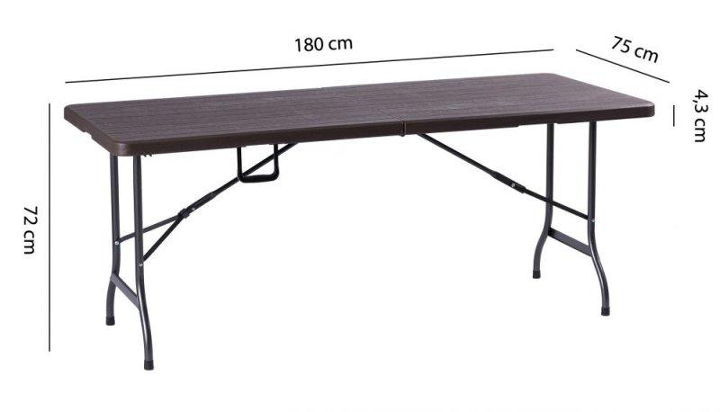 Stół cateringowy bankietowy ogrodowy składany 180