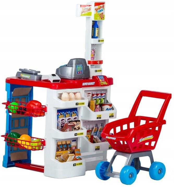 Supermarket sklep stragan dla dzieci kasa wózek