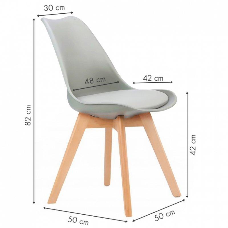 Krzesło zestaw krzeseł do salonu jadalni z poduszką ModernHome