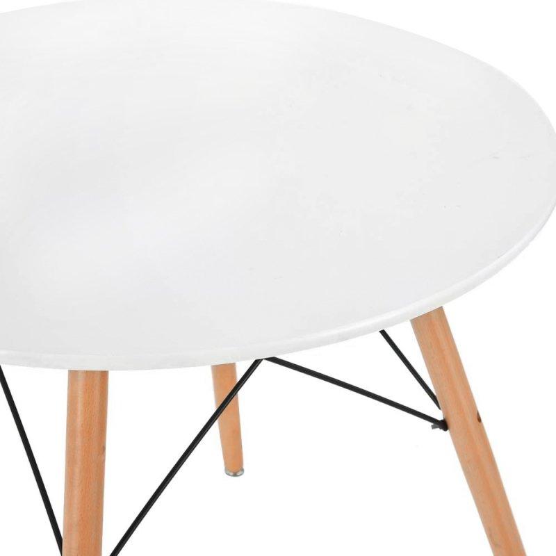Stolik kawowy nowoczesny skandynawski blat biały 60cm