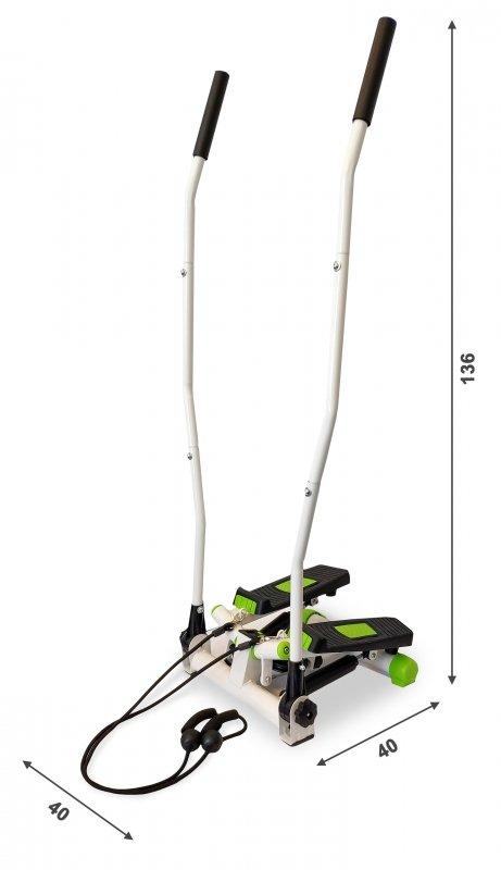 Stepper steper skrętny z linkami uchwytami i licznikiem ModernHome