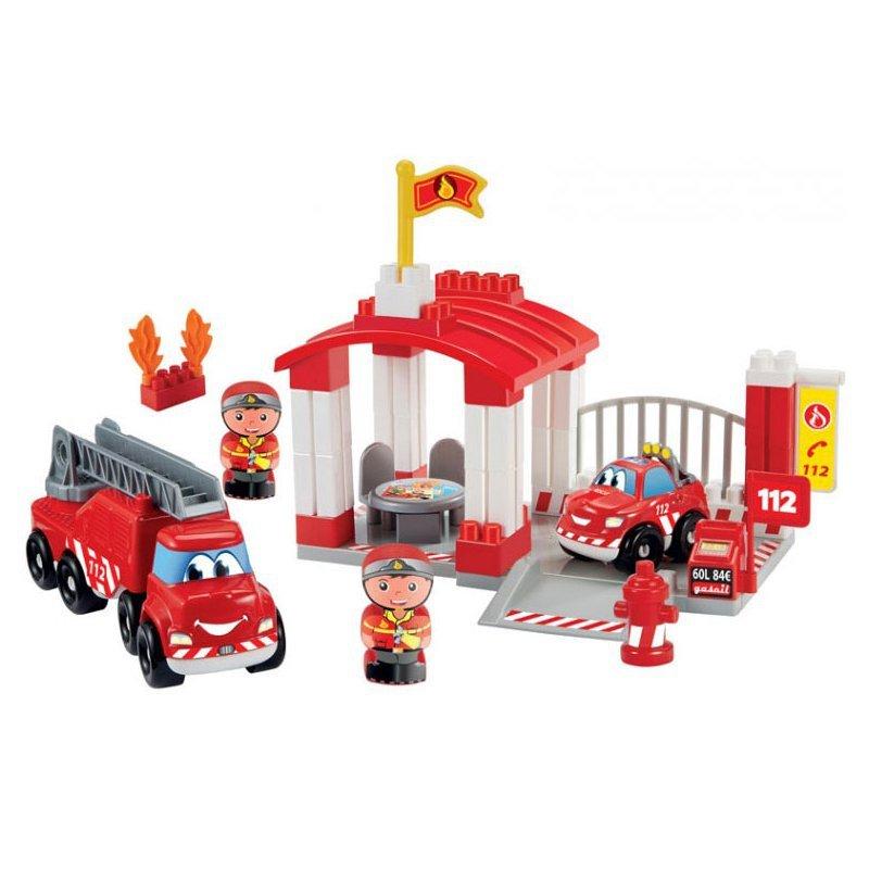 Ecoiffier Abrick Remiza strażacka z pojazdami i figurkami