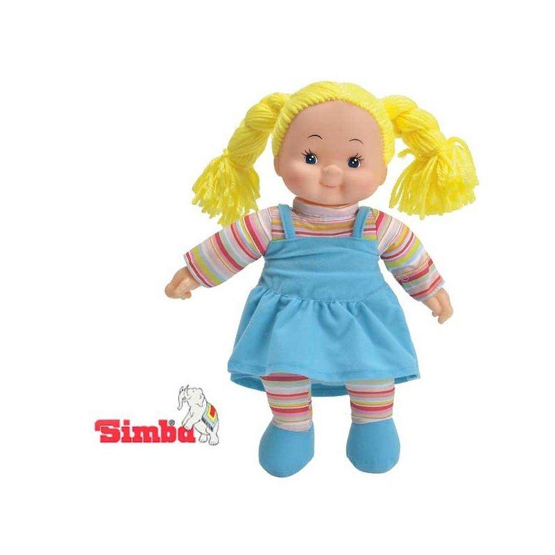 Simba Lalka Pyzatka Szmacianka Niebieska Sukienka