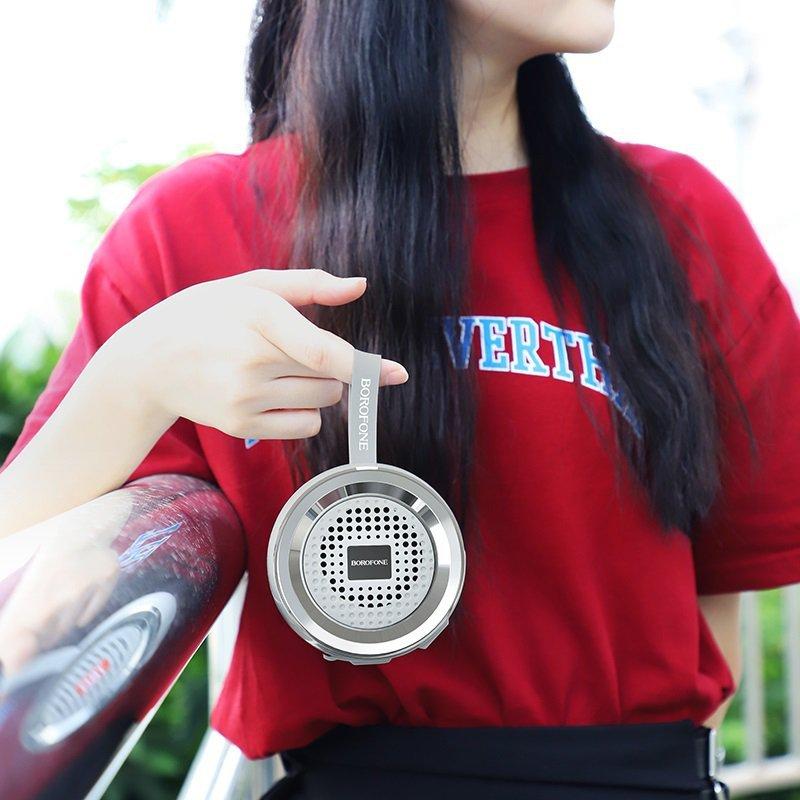 Borofone - głośnik bezprzewodowy sportowy Bluetooth V5.0, czarny