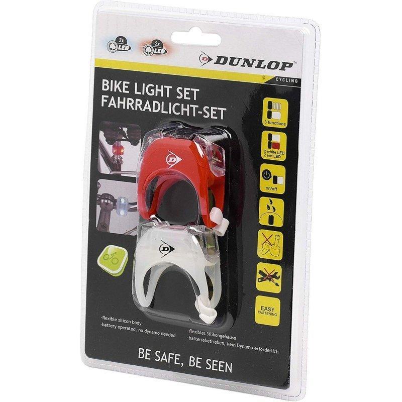 Zestaw-silikonowych-lamp-rowerowych-Led-przód-tył-Dunlop-Deluxe-1
