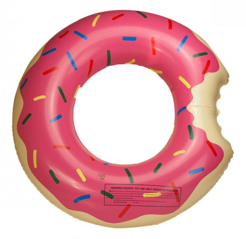 Koło Dmuchane Donut 60 cm różowe