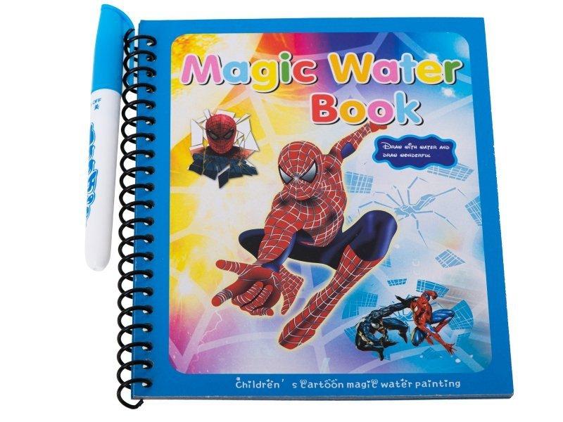 Książeczka wodna z mazakiem Spiderman niebieska