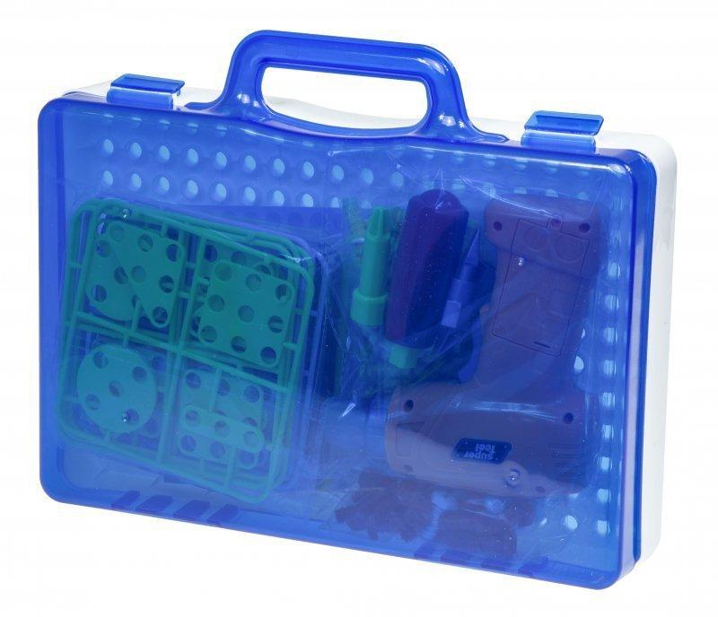 Puzzle Klocki w walizce + wkrętarka 151 el.