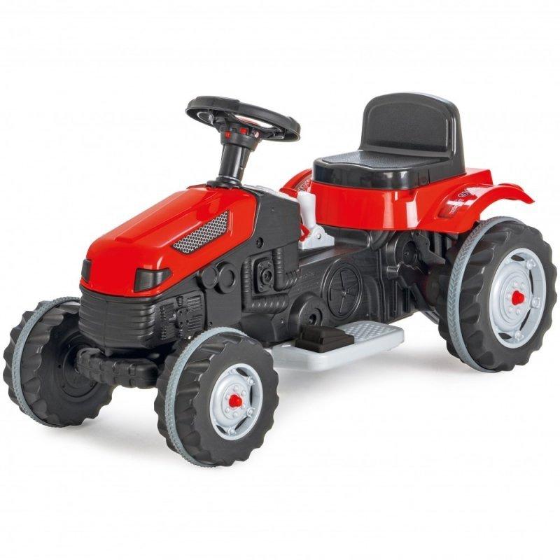 Duży czerwony traktor na akumulator 6V