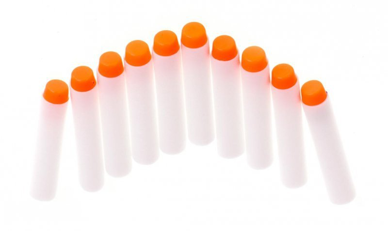 Strzałki do wyrzutni NERF fluorescencyjne 10 sztuk