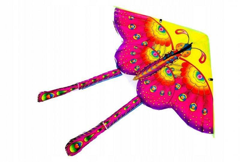 Latawiec duży 90 cm motyl niebieski