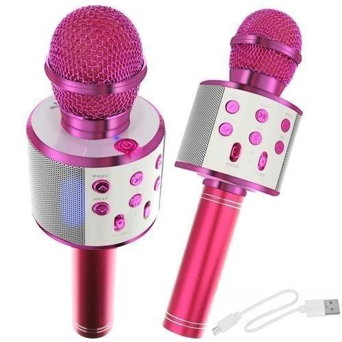 Mikrofon-dla-dzieci-karaoke-z-głośnikiem-różowy-23x7,5-2