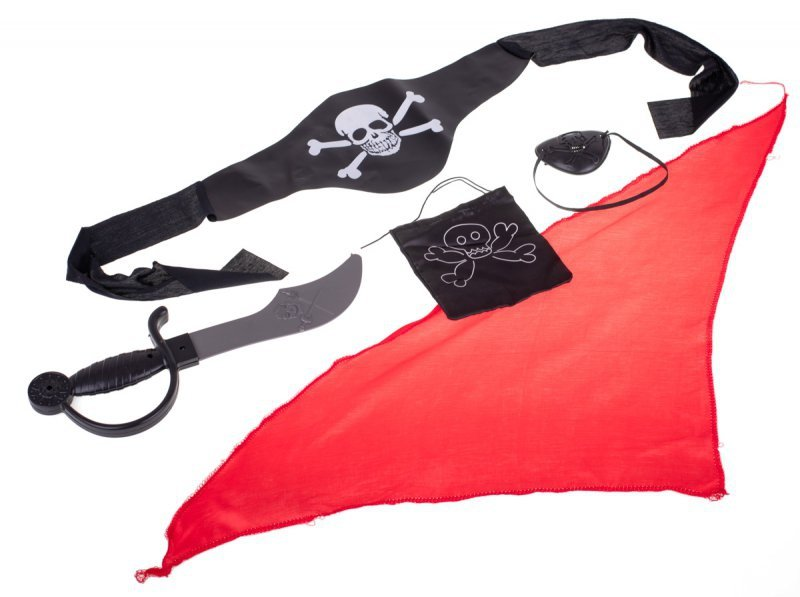 Kostium strój karnawałowy pirat z akcesoriami
