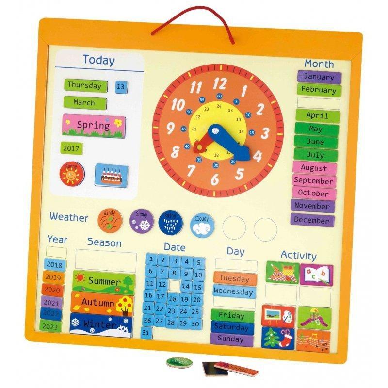 Magnetyczny kalendarz 75 el zegar