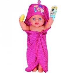 BABY BORN Różowy Zestaw Kąpielowy dla Lalki 43 cm Ręcznik Mydło Gąbka