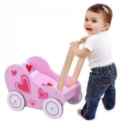 Wózek Drewniany Chodzik dla Lalki Classic World
