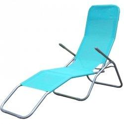 Leżak fotel składany grawitacyjny Lazzy turkusowy