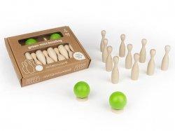 Drewniana gra zręcznościowa Mini kręgle 4l+ MILANIWOOD