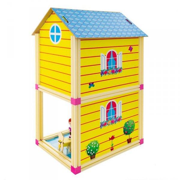Domek dla lalek niebieski mały