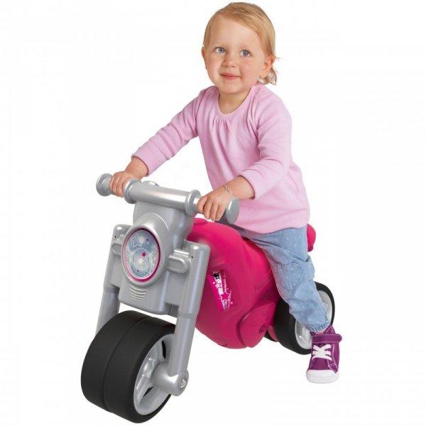 BIG Różowy Motorek Biegowy Jeździk Dla Dziewczynki do 30kg
