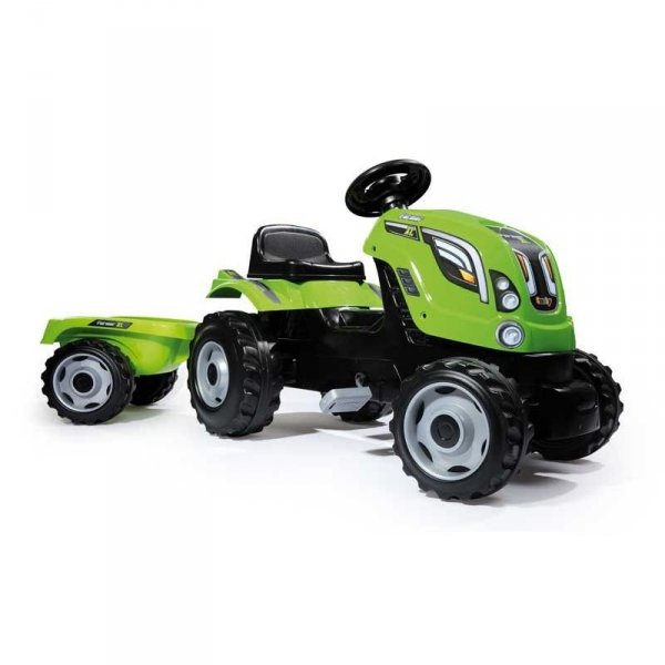 SMOBY Traktor na pedały Farmer XL z przyczepą - Zielony