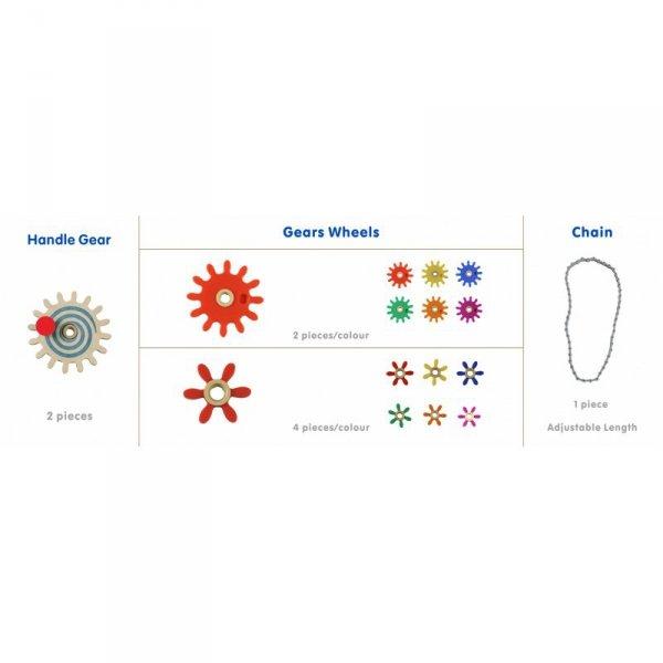 Koła Zębate Zbuduj Własny Mechanizm - Tablica Naukowo-Kreatywna Masterkidz STEM