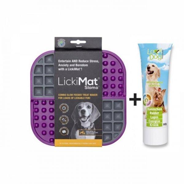 Mata LickiMat® Slomo™ + Przysmak dla psa Wołowina LoviDog ZESTAW