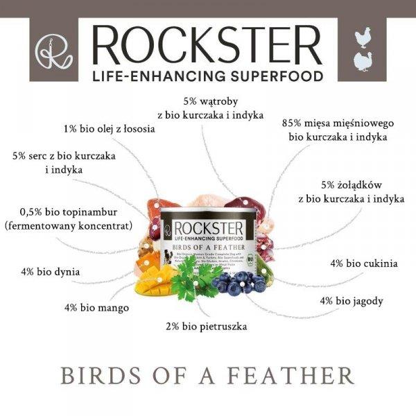 Rockster Birds of a feather - BIO kurczak i indyk 195g