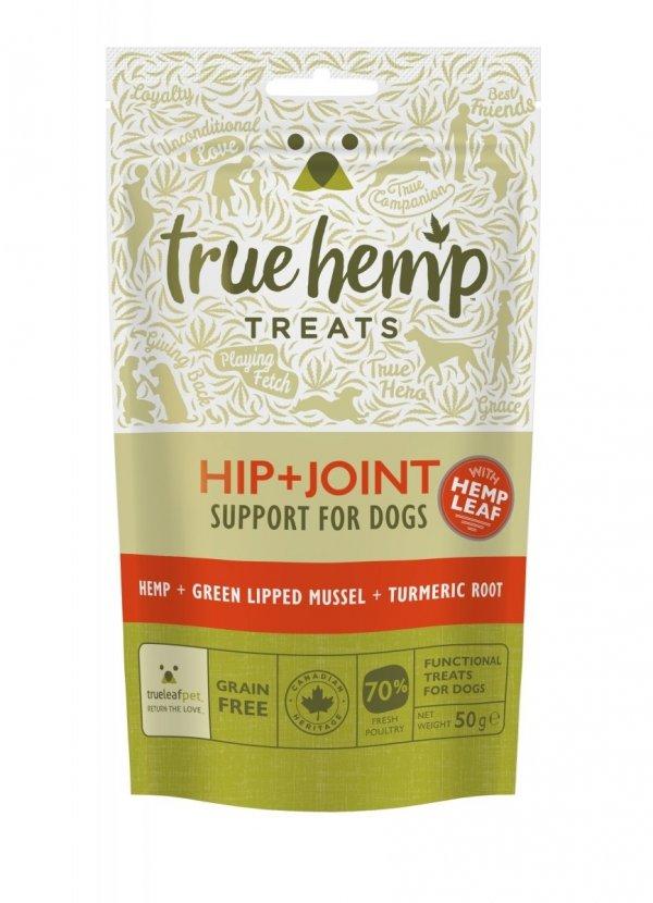 TRUE HEMP Przysmaki dla psa z konopiami 50G - biodra + stawy