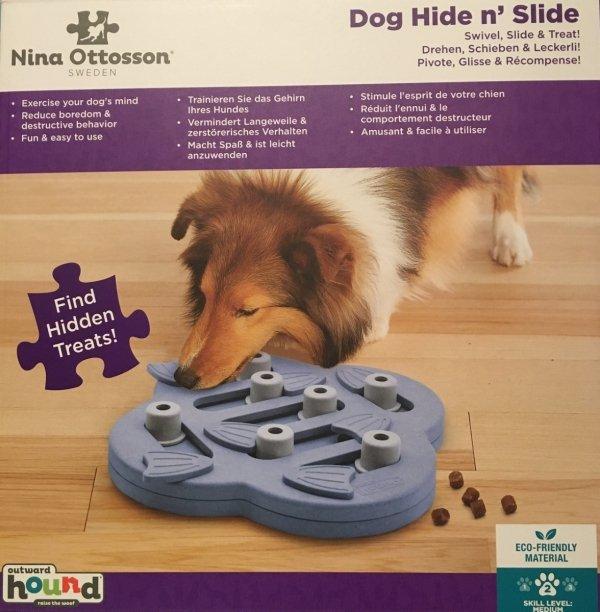 Nina Ottosson Dog Hide 'N Slide Purple - gra edukacyjna dla psów - poziom 2