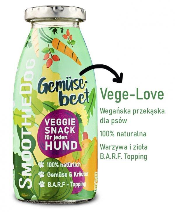SmoothieDog VEGE-LOVE - wegańska przekąska dla psów