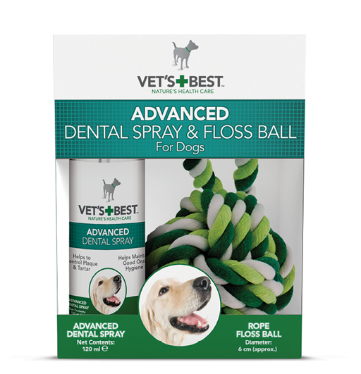 Vet's Best Dental Spray 120ml + Kula sznurkowa
