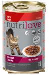 Nutrilove Cat 11445 puszka 400g wołowina kawałki