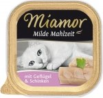 Miamor 75063 Milde Mahlzeit Kurczak i szynka 100gr