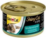 Gimcat 413129 Shiny Cat Kurczak z Krewetkami 70gr