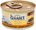 Gourmet Gold 85gr Duot Kaczka i Indyk w sosie brąz