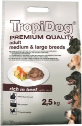 Tropidog 57075 Premium Adult M&L Beef&Rice 2,5kg