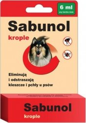 Sabunol 0509 Krople przeciw pchłom i kleszczom 6ml
