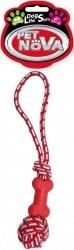 Pet Nova 2219 Kość na sznurze 40cm, czerwony