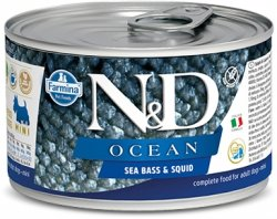ND Dog 2239 Adult Mini 140g Ocean Sea Bass Squid