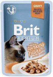 Brit 8531 Premium Cat 85g Indyk sos saszetka