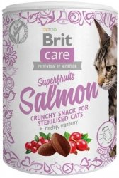 Brit Care Cat Snack Super Fruits Salmon 100g