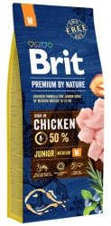 Brit Premium By Nature M Junior 15kg
