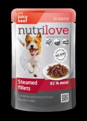 Nutrilove Dog 11451 saszetka 85g wołowina sos