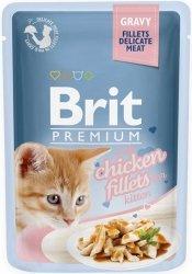 Brit 8579 Premium Cat 85g Kitten Kurczak sos sasz