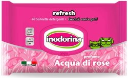 Inodorina 0886 Chusteczki wodna róża 40szt