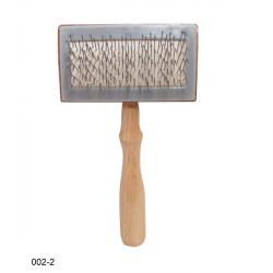 Lessie 002-2 Zgrzebło drew. drut gruby kolankowy